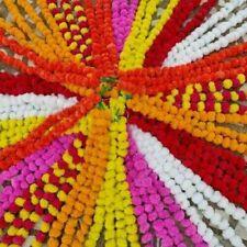 5 Pc Set Artificial Marigold Flower Garlands Diwali Indian Wedding Decoration
