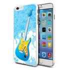 Blue Guitar Design Shockproof Hard Case Cover For Mobiles
