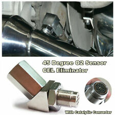 45° O2 Sensor Adapter w/ Catalytic Exhaust Spacer Bung Fix Engine Light Durable