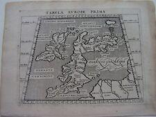 Britische Inseln  Ptolemaeus/Janssonius Kupferstich 1617
