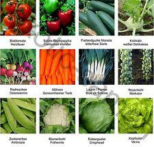 Samen - Sortiment - Gemüsegarten 1 - 12 Sorten diverse Gemüse - 1380 Samen