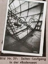 1933 Zeppelin Weltfahrten Cigarette Card German Photo 59 Side Entrance Bodensee