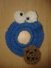crochet Camera Buddy, Photo Prop Lens, Animal Lens Buddy cookie monster one size