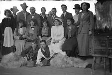 THEATRICAL GROUP #2 Antique Photographic Glass Negative (1910s Cowboy Costumes)