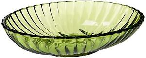 Ribbed acrylic soap dish in palm green