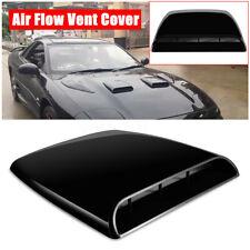 3D Simulation Car Air Flow Intake Hood Scoop Vent Bonnet Decor Cover Decal Black