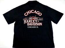 Vintage 1978 USA Harley Davidson Rare Pocket Polo Shirt Mens XL Chicago IL 50/50