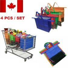 Reusable Trolley Shopping Cart Bags Set of 4 Grocery Shopper Organizers Trolleys