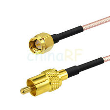 RCA male to SMA male plug Adapter RF RG316 RF Pigtail Coaxial 50 ohm Cable 80cm