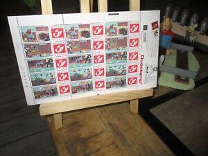 Hergé&Tintin-Planche 15 timbres-7 boules de cristal-Complète-Collector neuf-2001