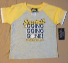 Boys ROCK Baseball Going Going Gone Shirt size 18 months New with Tags