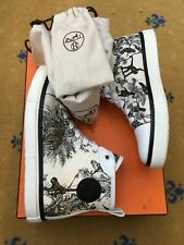 Hermes Homme Chaussures Baskets Sneakers High Top UK 6 7 US 40 Jimmy Panther Singe