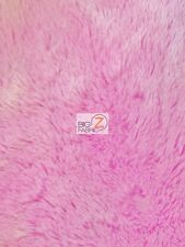 SOLID SHAGGY MINKY FABRIC - PINK - BY THE YARD BABY SOFT BLANKET DECOR SNUGGLE