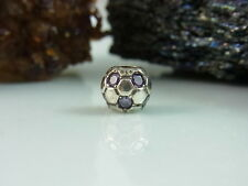 ORIGINAL PANDORA CHARM BEADS / ELEMENT 925 er SILBER 790444ACZ FUSSBALL LILA