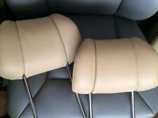 Mercedes W 126 380SEC 420SEL 500SEC 560SEL 560SEC Coupe Leather Headrest Beige !