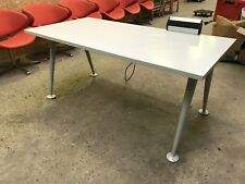 Herman Miller Abak Straight Desk White Top