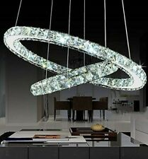 Crystal Ring Chandelier Pendant Light Fixture Modern Hanging Led Ceiling Clear