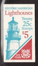 USA 1990 COMPLETE BOOKLET OF 20 STAMPS #2470/73, LIGHTHOUSES !!  E93