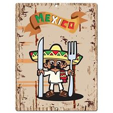 PP0589 Mexico Plate Sign Bar Shop Cafe Home Kitchen Restaurant Interior Decor
