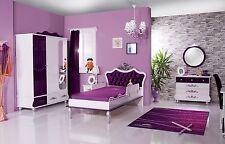 Kinderzimmer Anastasia lila 5-teilig Kinderzimmerset Traumzimmer Mädchenzimmer