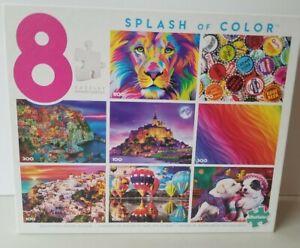 Splash Of Color 8 Puzzles Buffalo With Bonus Puzzle Poster