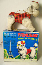 VTG BATTERY OPERATED REMOTE CONTROL PRINCESS FRENCH POODLE DOG ALPS JAPAN NMIB