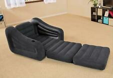 NEW Inflatable Flocked Camping Camp Single Pull Out Armchair Chair Mattress