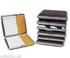 Zigarettenbox Zigarettenetui  für 20 Filterzigaretten stabile Lede-Optik