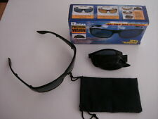 Folding HD Glasses Driver Sunglasses Fold Away With Pouch NEW & BOXED