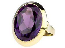 Art Deco Damen 585 Gelb Gold 8,0 ct fabelhafter Amethyst Ring