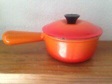 Le Creuset Casserole Orange Flamme 15 Cm Fonte Vintage