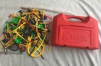 K'NEX Large Lot - Vintage 1997 K'NEX Carrying Case Red + Over 500 K'NEX Pieces