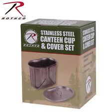 Rothco Stainless Steel Canteen Cup & Cover Set - Camping Hiking Survival