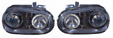 For VW Golf Mk4 Twin Angel Eye Halo Black Projector Headlights Lamps Incl. Fog