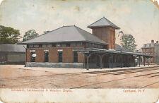 Cortland NY * Delaware, Lackawanna & Western RR Depot 1905