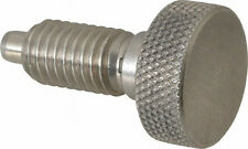 Vlier Knurled Knob Plunger Retractable Non Locking SSL190P - Stainless Steel