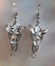 Boxed Platinum Plt Cubic Zirconia CZ Lord of the Rings Arwen Evenstar Earrings