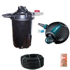 Marken Teich-Druckfilter Komplettset-20000L-2- mit UVc24w u Eco-Max O-8.500 P