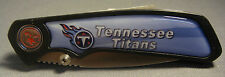 TENNESSEE TITANS ABSTRACT LOGO SKY BLUE FOLDING POCKET KNIFE