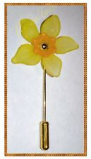 Daffodil Flower Pin Brooch ...with Safety End....Gold Tone...