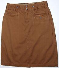 """Columbia XCO 100% Cotton Skirt Sz. 8 Camel Khaki Brown 23"""""""