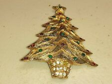 VINTAGE PINS/BROOCHES - GROUP OF 13 CHRISTMAS RELATED(8 ARE  CHRISTMAS TREES)
