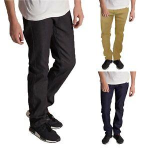 KAYDEN.K Men's Slim Fit Jeans Raw Denim Pants