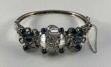 14K White Gold Star Sapphire & Diamond Bracelet 1960's