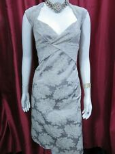 KAREN MILLEN Champagne Embroidered day/evening occasion dress UK 14, EU 42