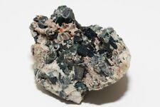 Dark Green Tourmaline Crystal Cluster Specimen