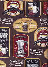 Coffee Pot Advertising Brown curtain valance