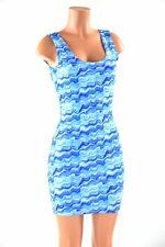 LARGE Swirling Waters Blue Tank Bodycon Dress