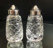 WATERFORD SALT AND PEPPER SHAKERS--NICE--NO ISSUES--BUY IT NOW!