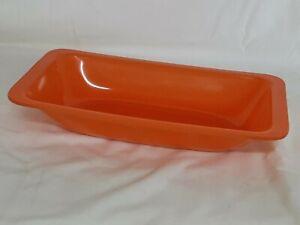 "Rachael Ray Orange Rectangular Serving Dish Bowl - 7.75"" x 14"" x 2.5"""